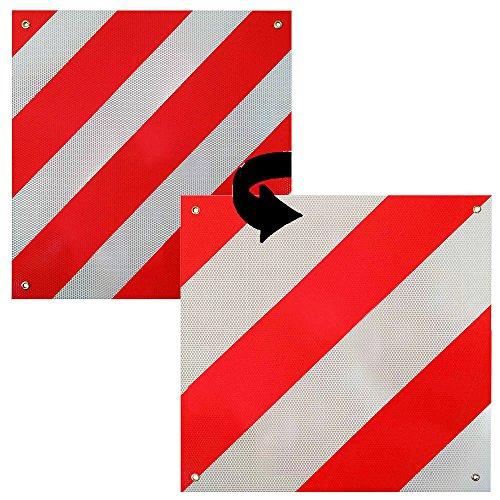 Melko Warntafel Spanien & Italien für Auto, 2in1, Heckträger, Wohnmobil oder Wohnwagen aus Aluminium, 50 x50 cm, rot-weiß