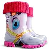 Exclusive Boys Girls Kids Warm Fleece Lined Wellington Boots Wellies (Pony, 12-13 UK / 30-31 EU - 188mm)