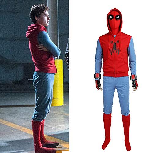 Lydia's Anime Spiderman: Heimkehr Cosplay Dutch Brother Hausgemachte Kapu Outfit Unisex Full Set Uniformen Für Halloween M (Hausgemachte M&m Kostüm)