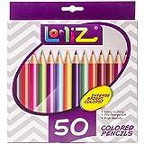 LolliZ Buntstifte, 50Stück Einzigartige Farben