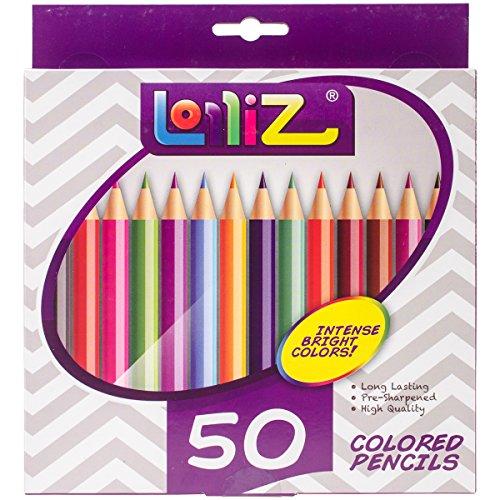 lolliz® Buntstifte, 50Stück Einzigartige Farben