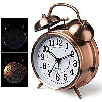 Despertador, reloj de alarma antiguo Despertador clásico de campana doble para dormitorio pesado, reloj