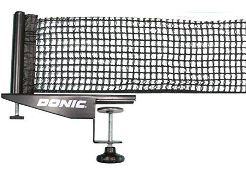 Donic-Schildkröt Tischtennisnetz Rallye, Wettkampf-Netzgarnitur gemäß ITTF, verstellbares Baumwollnetz, stabile Tischbefestigung, max. Plattenstärke 5,0 cm, 808341