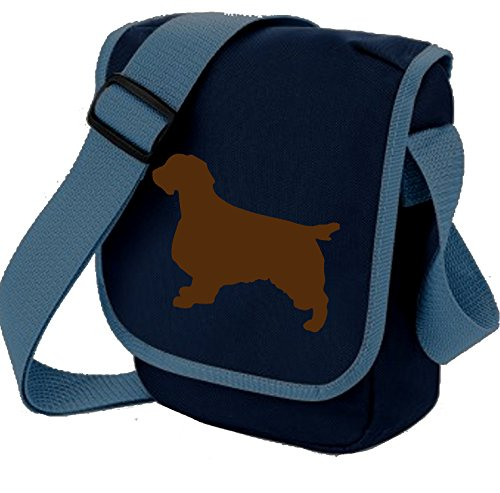 Bag Pixie ,  Unisex Erwachsene Umhängetaschen Brown Dog on Blue Bag