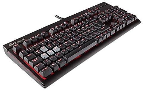 Corsair CH-9000226-DE Strafe Mechanische Gaming Tastatur (mit Cherry MX Blue Tasten, roter LED Beleuchtung und ergonomischen Design mit Handballenauflage, QWERTZ-Layout) (Corsair Vengeance K70 Cherry Mx Red Switches)