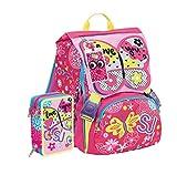 Schoolpack Zaino Scuola Estensibile Seven SJ Gang Girl Farfalla + Astuccio 3 Zip