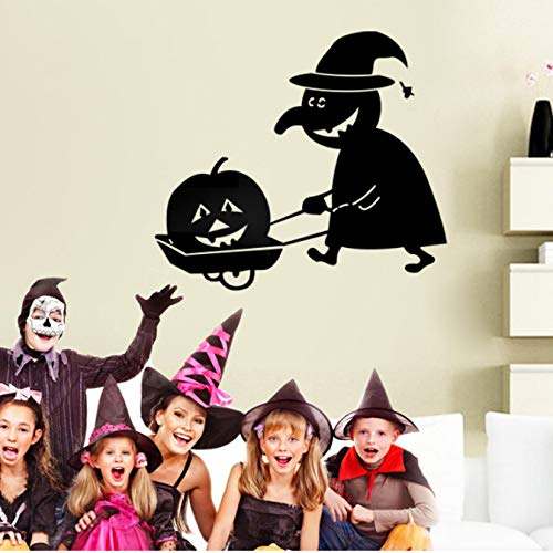 qwerdf Wand-Sticker Scary Pumpkin Aufkleber Abnehmbar An Der Halloween Festival Dekorative Schwarze Di Wand Aufkleber Plakat Tapete Party Wohndekoration