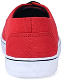 Shoe Mate New Latest Fashionable Stylish Casual Sneakers Red Color Mesh Shoes For Men's