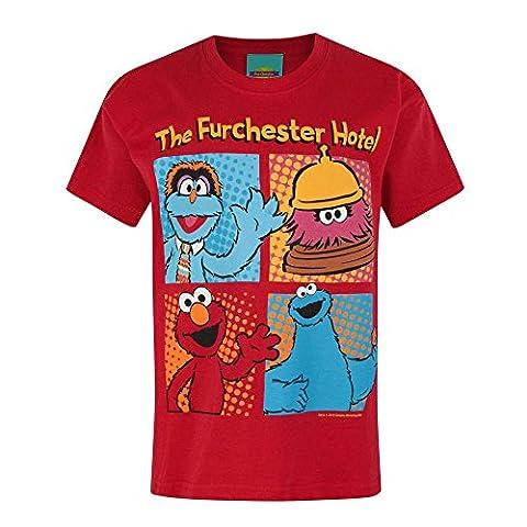 Furchester Hotel Jungen Charakter Design T-Shirt (Jahre (7/8)) (Tiefrot)