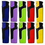"""Sturmfeuerzeug """"MOSA"""" Turbo Feuerzeug 5 Farben JET FLAME Torch Gas Lighter (2x Alle Farben (10 Feuerzeuge))"""