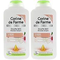 CORINE DE FARME Set de 2 Douche Soin Surgras à l'Huile d'Amande Douce