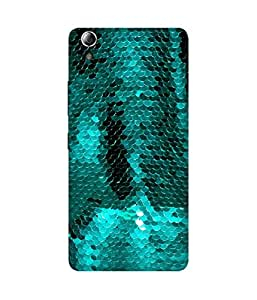 Turquoise Glitter Printed Back Cover Case For Lenovo A3900