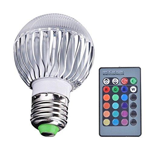 SANWOOD E27 15 W à LED RGB Changement de Couleur Ampoule Lampe avec télécommande