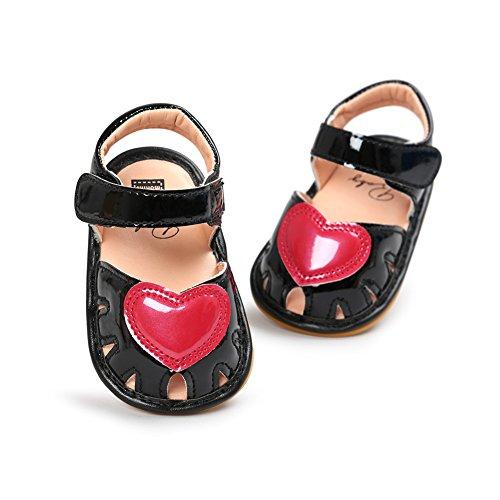Babyschuhe Weichen Sohle Leder Schuhe Infant Mädchen Lauflernschuhe Krippeschuhe 0-18 Monate Schwarzes
