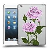 Head Case Designs Pfund Silber Rosen Und Wildblumen Soft Gel Hülle für iPad Mini 1 / Mini 2 / Mini 3