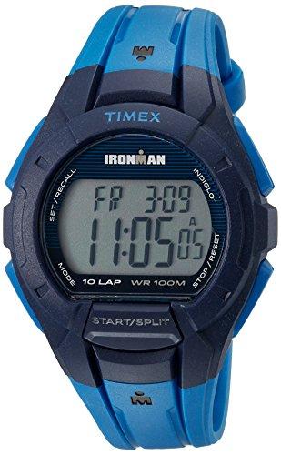 Timex Men's TW5M11400 Ironman Essential 10 Blue/Black Resin Strap Watch -