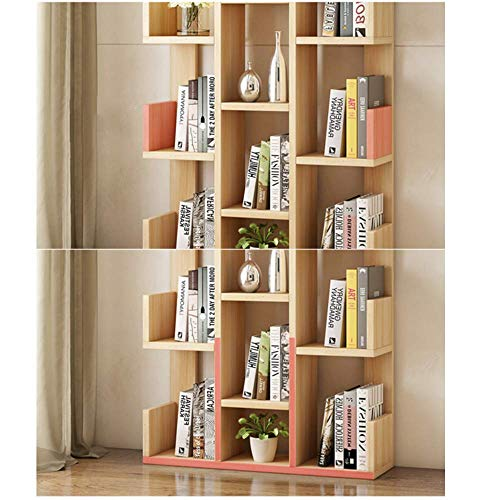 Wisdom Regale & Aufbewahrung Bücherregalgestell Modernes Bücherregal Bücherregal Displayablage Organizer Regale für CD-Schallplatten Bücher Family Home Office Deco Robust Durable,Leichte Walnuss -