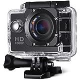 VicTsing Videocamera Sportiva Azione Impermeabile Sport Esterna con 12MP Immagine e Full HD(1080p a 30fps)