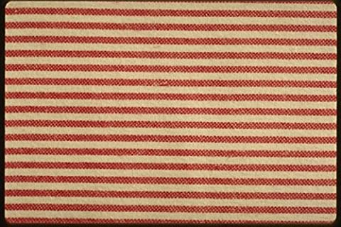 192060 Small Red And White Stripes A4 Photo Poster Print 10x8