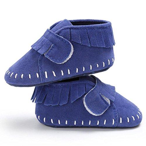 f738c4b7aa61cc ... Igemy 1Paar Baby Schuhe Jungen Mädchen Neugeborene Krippe Soft Sole  Sneakers Blau pt8SleY ...