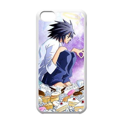 Death Note coque iPhone 5C Housse Blanc téléphone portable couverture de cas coque EBDXJKNBO11455