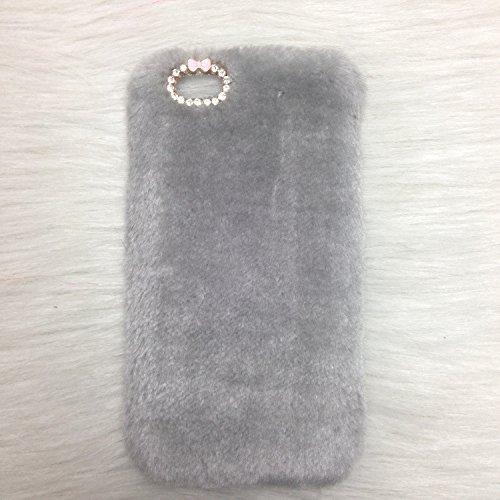Pour Coque iPhone 6/6s , iNenk® Rex Imitation laine chaude téléphone Shell mode luxe marée couverture Protection affaire manchon Bowknot pour femmes-Rose rouge gris