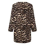 Xinantime Cárdigans para Mujer Suéter, Mujeres Leopardo Sexy Invierno Cálido Nuevo Chaqueta Larga Prendas de Abrigo Polar Top Cardigan Tejido Abrigo de Viento Chaqueta de Punto Estampado de Leopardo