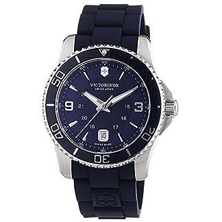 Victorinox Maverick – Reloj de Cuarzo para Hombre, con Correa de Goma, Color Azul