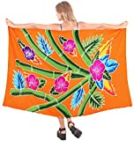 Bademode Wrap Badeanzug Badebekleidung Frauen Wrap Sarong Pool Abnutzung Badeanzug Zeitkleidung Orange verschleiern
