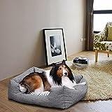 Songmics Tierbett mit Wendekissen, mit unten einen Anti-Rutschboden 60 x 50 x 22 cm PGW22G - 2