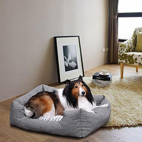 Songmics-Rectangular-Large-Dog-bed-with-removable-mattress-80-x-60-x-26-cm-PGW26G