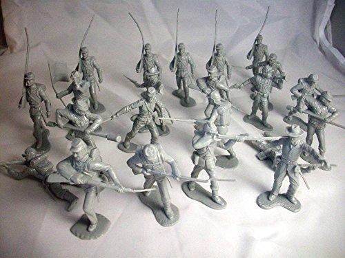 Marx Civil War Union Infantry 22 Figures in 10 Poses in Gray Offered By Classic Toy Soldiers, Inc