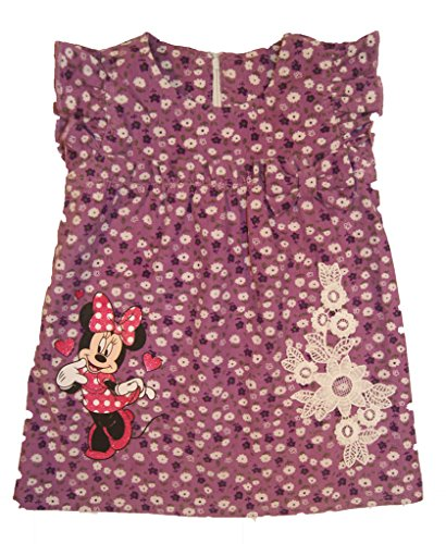 Super Süsses Minnie Mouse für Mädchen Baby Cord Baumwoll Kleid in 68 74 80 86 92 von Disney erstklassige Qualität, in Rosa oder Lila für 0 6 9 12 Monaten 1 2 Jahre Herbst warm Farbe Lila, Größe 86