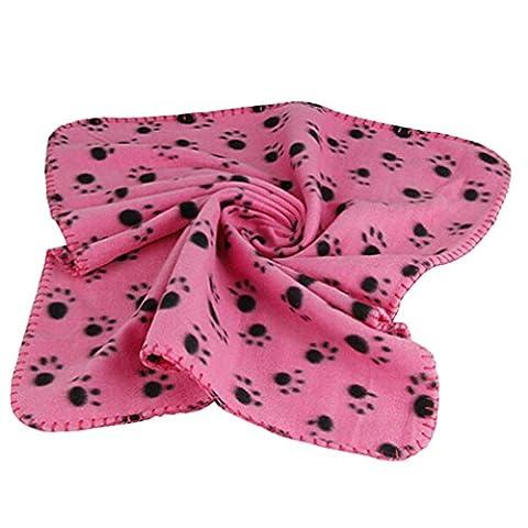 alkyoneus Winter Warm Pet Paw Print Katze Hund Puppy soft fleece Decke Bett Kissen Matte Bezug (Paw Pet Carrier)
