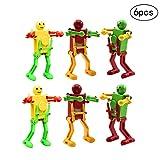 Wenosda 6 Stücke Uhrwerk Tanzen Roboter Wind Up Puzzle Spielzeug Uhrwerk Frühling Spielzeug für Baby/Kinder/Kleinkind/Kind entwicklung Geschenk(Gelegentliche Farbe)