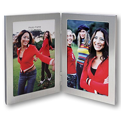 Zep S.r.l 8702V2 - Marco de fotos doble (metal, para 2 fotos de 13 x 18 cm)