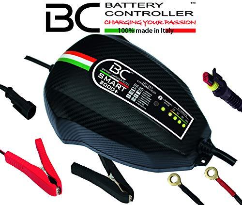 BC Battery Controller BC SMART 2000+, Caricabatteria e Mantenitore Intelligente per tutte le Batterie Auto e Moto 12V Piombo-Acido, 2 Am