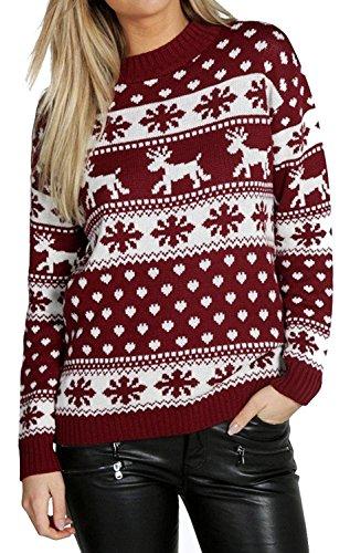 wflake Kids Xmas Mother Daughter Son Christmas 3-13 Year Jumper Top Size 8-26 (Womens Hässlichen Pullover Weihnachten)