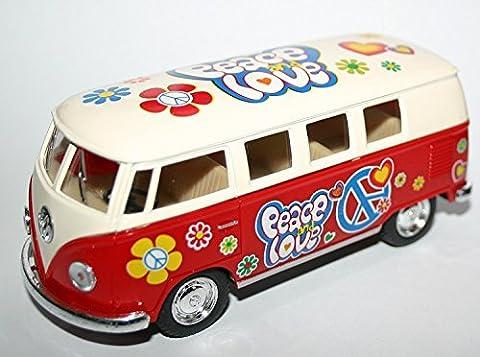 VW Volkswagen Camper Van Flower Power Hippie-Entwurf Maßstab 1:32 Modellfahrzeug