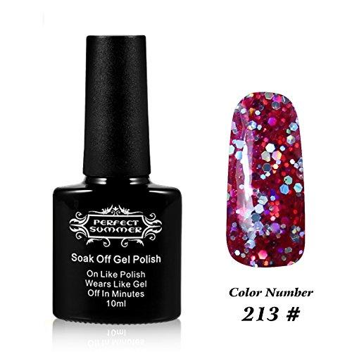 Perfect Summer 10ml Flacon Vernis à Ongles Gel Semi Permanent UV/LED #213