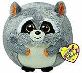 TY 7138039 - Mischief Ball - Waschbär grau, 12 cm, Beanie Ballz
