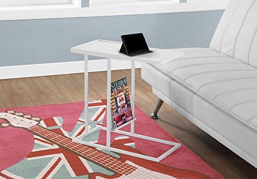 Monarch I 3098 Tisch, Metall, mit Zeitschriftenständer, Weiß