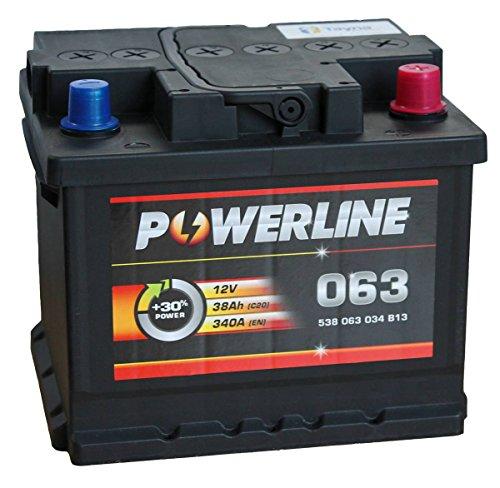 Preisvergleich Produktbild 063 Powerline Autobatterie 12V