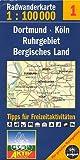 Fahrradkarte Radkarte Dortmund Köln Ruhrgebiet Berigsches Land 1:100.000