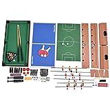 Multifunktionsspieltisch Multi-Spieltisch Multigame 4 in 1 Tischfußball Billard Tischtennis Hockey - 9
