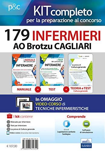 Kit Concorso 179 Infermieri Ao Brotzu Cagliari - MANUALI Di Teoria E Test Commentati Per Tutte Le Prove Con software Online, LEGISLAZIONE sanitaria e videolezioni Procedure