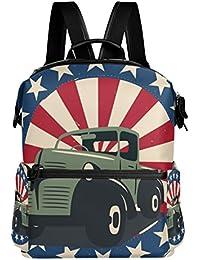 Preisvergleich für COOSUN Veterans Day Badge Schule Rucksack-Spielraum-Rucksack Multi