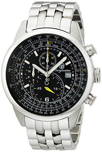 burgmeister-melbourne-bm505-121-gents-chronograph-stainless-steel-bracelet-black-dial-date-tachymete