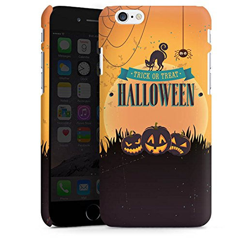 Apple iPhone X Silikon Hülle Case Schutzhülle Halloween Kürbis Trick Or Treat Premium Case matt