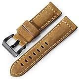 iStrap Bracelet de Montre 20mm 22mm 24mm 26mm Cuir Vintage Montre Militaire Bracelet de Remplacement...